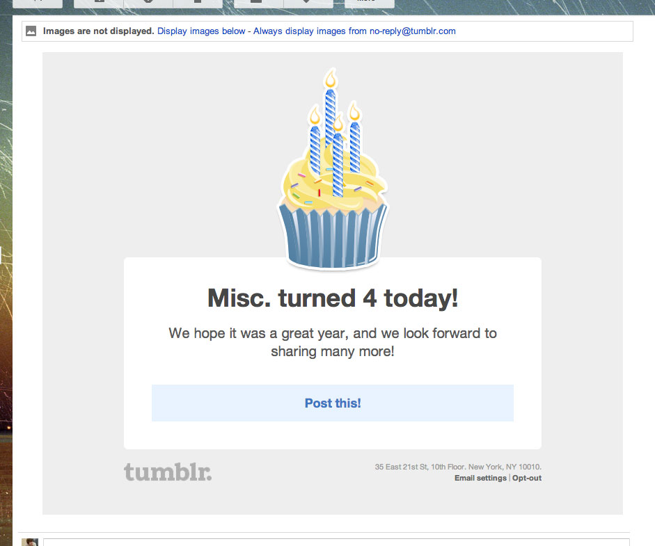 FourYearsofTumblr