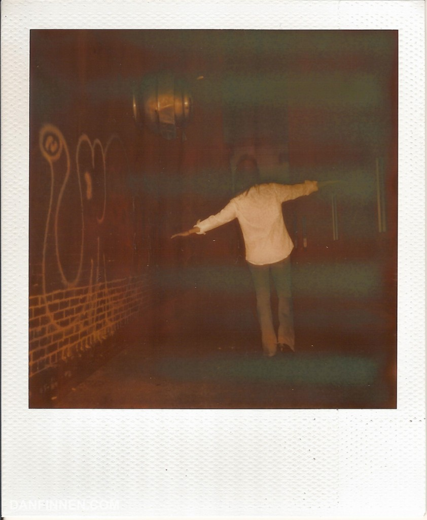 Polaroid with dirty roller defect