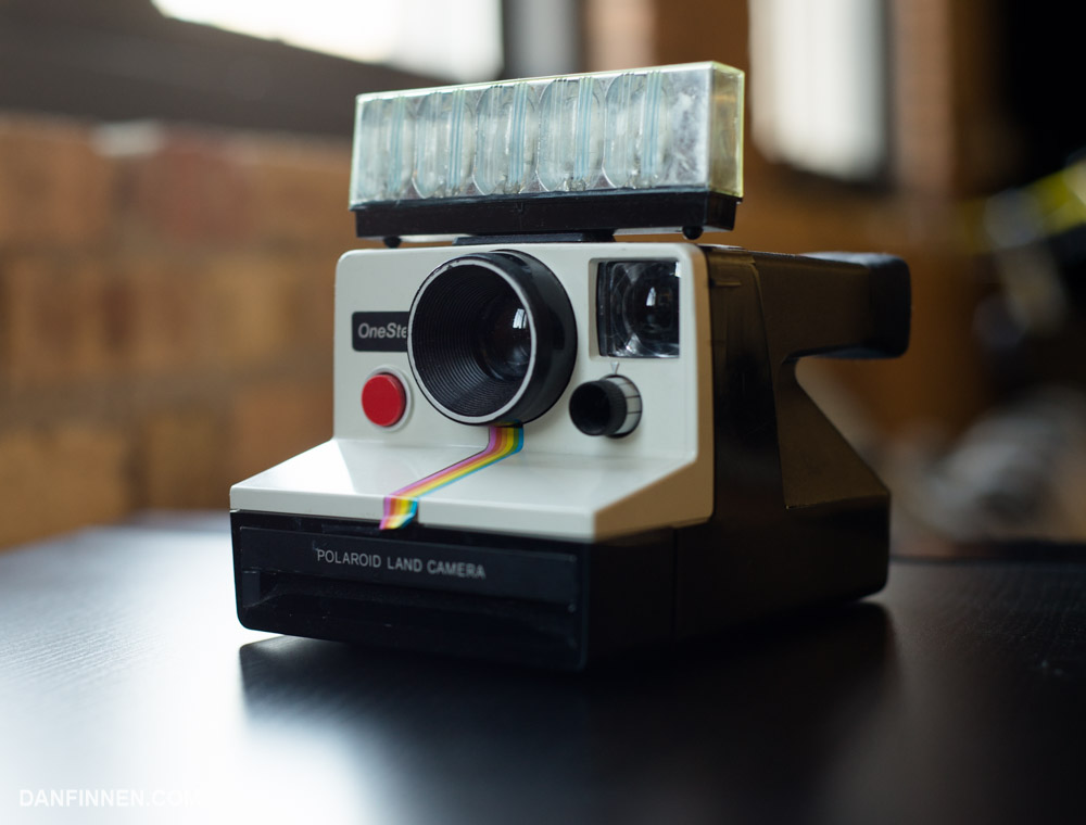 The white SX-70 box camera is kind of terrible, but its iconic look makes it great for collectors.
