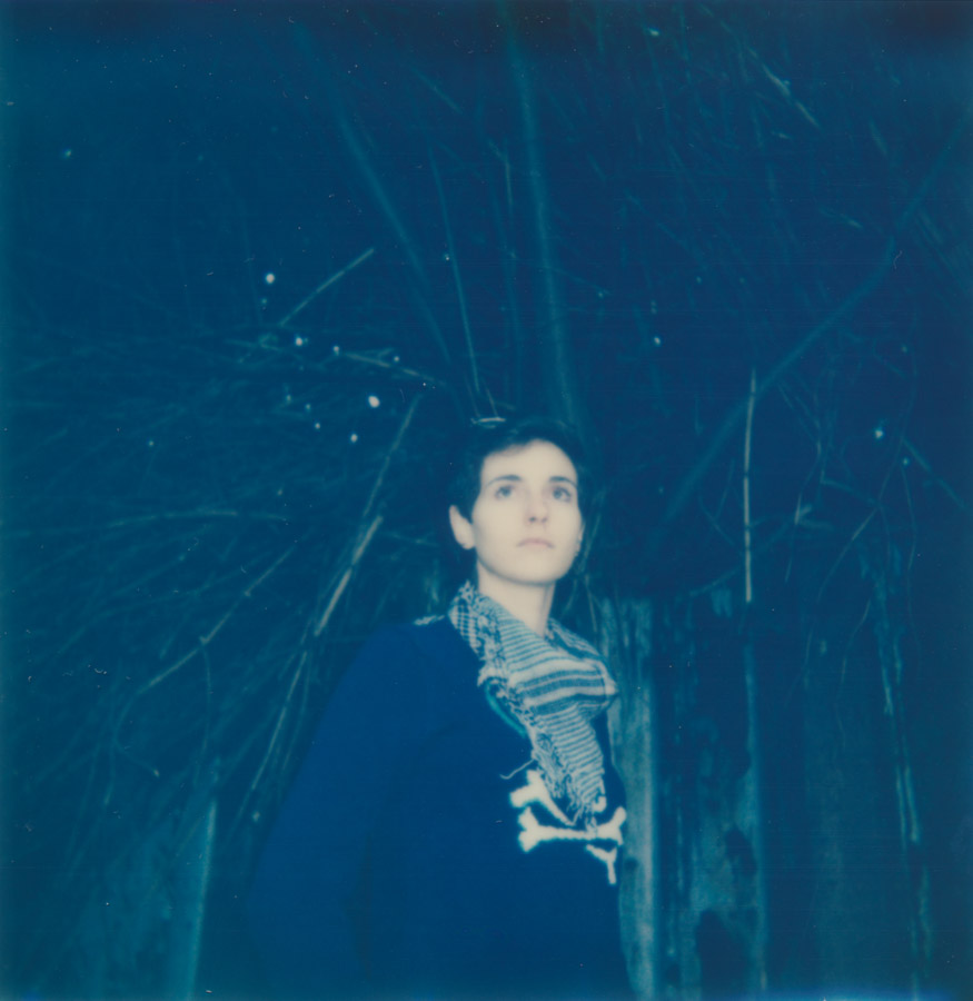 I forgot to scan this right away, and within a few weeks my Impossible Project image turned blue.