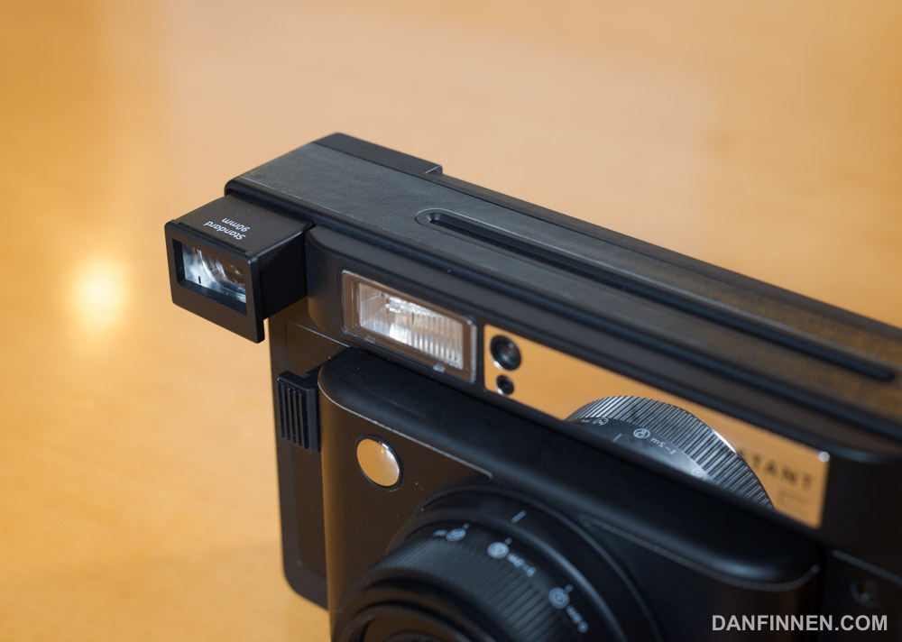 The viewfinder can be swapped out depending on which lens you're using.
