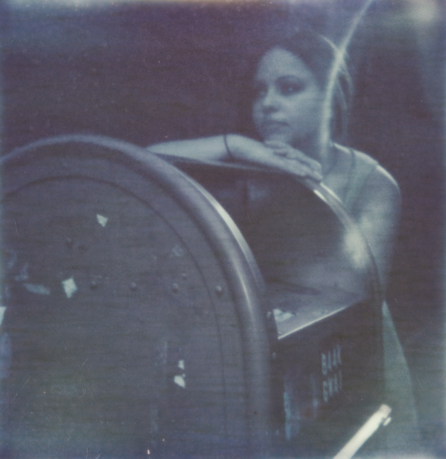The only picture of a mailbox I could find. Taken with the Impossible Project's first attempt at color film many years ago.